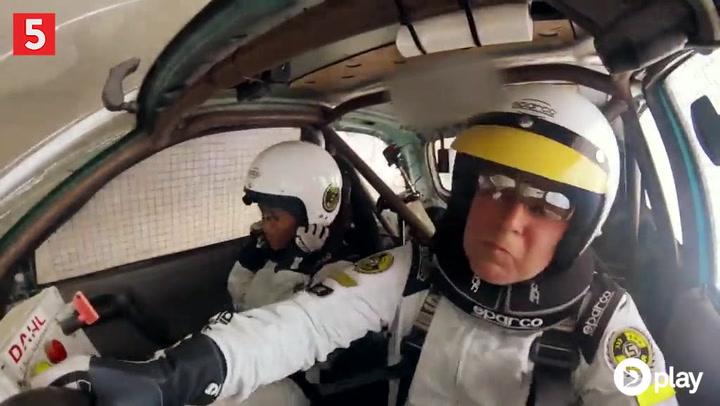 Uffe Holm i voldsomt bilstyrt