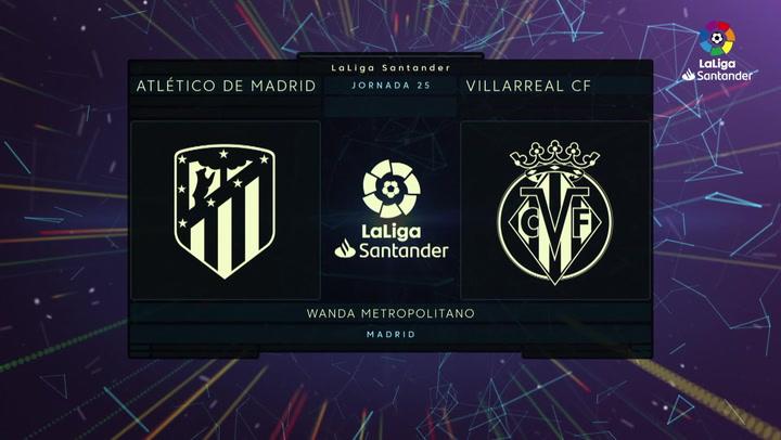 LaLiga Santander (J25): Resumen y goles del Atlético de Madrid 3-1 Villarreal