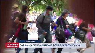 Caravana de hondureños rompen cerco policial e ingresan a Guatemala