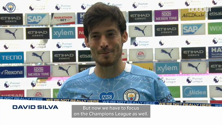 David Silva emotional after final Premier League appearance