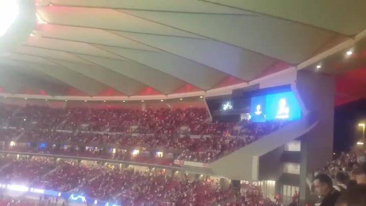 Tremenda pitada en el Metropolitano cuando el nombre de Cristiano fue anunciado en el Atleti - Juve
