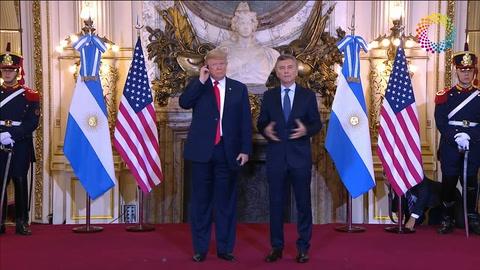 Tenemos mucho de qué hablar, dijo Trump a Macri en Casa Rosada