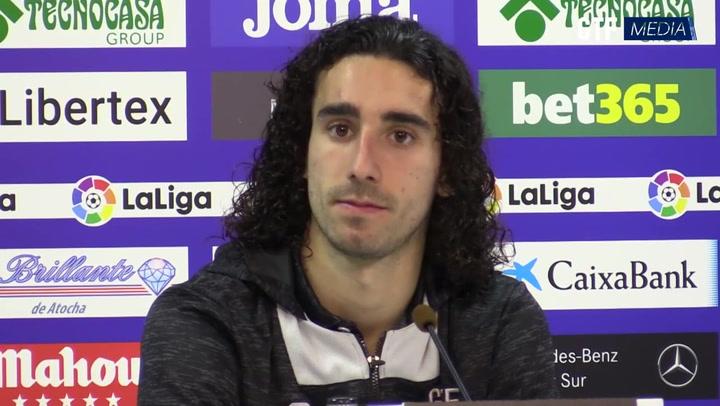 Rueda de prensa de Marc Cucurella tras su estreno goleador con el Getafe