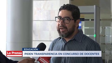 Piden transparencia en concurso de docentes