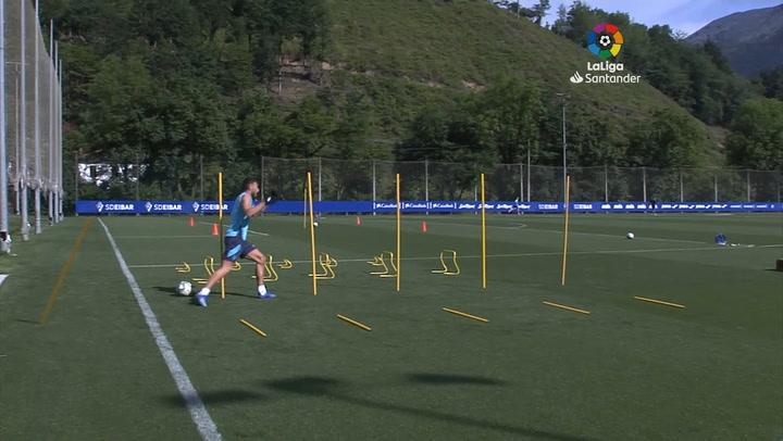 El Eibar ya entrena en Atxabalpe