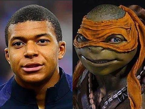 El día que Kylian Mbappé fue comparado con una tortuga ninja