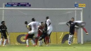 El gol de José García en el triunfo de Olimpia al HDP