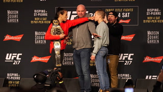 UFC 217 title fight staredowns