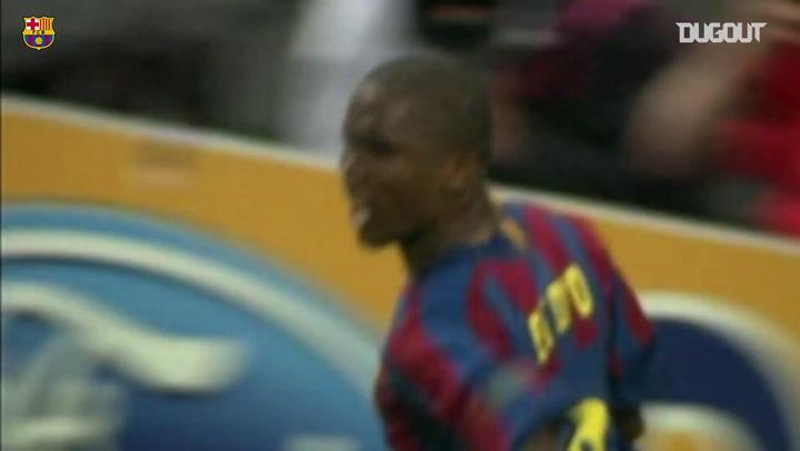 Samuel Eto'o'nun Barcelona Formasıyla Şampiyonlar Ligi Finali Golleri