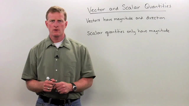 Vector Quantities - Scalar Quantities