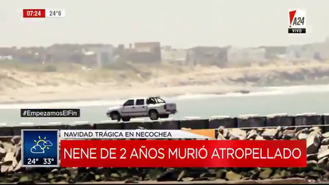 Un nene de 2 años murió atropellado por una 4x4 en la playa de Necochea