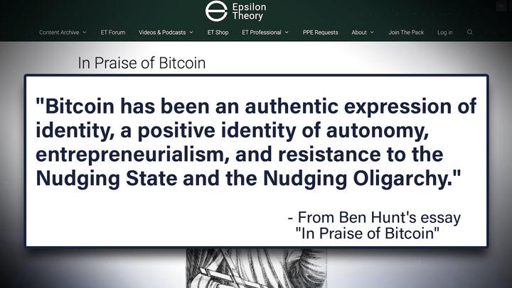 'In Praise of Bitcoin' Essay Author on Bitcoin