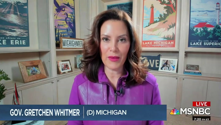 MI Gov. Whitmer: Trump 'Incites,' 'Legitimizes' Attacks with Calls Like 'Liberate Michigan'