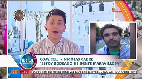 Nicolás Cabré se enojó feo con un periodista y termino todo mal