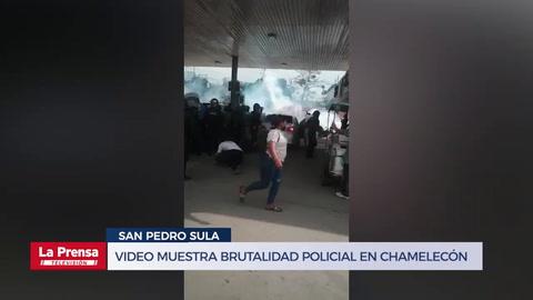 Video muestra brutalidad policial en Chamelecón