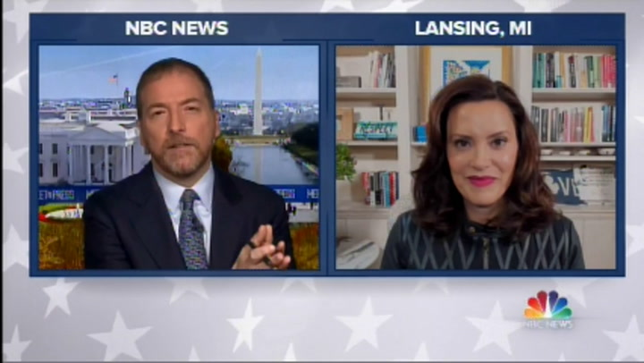 Whitmer: Trump 'Inspiring and Incentivizing and Inciting' Domestic Terrorism