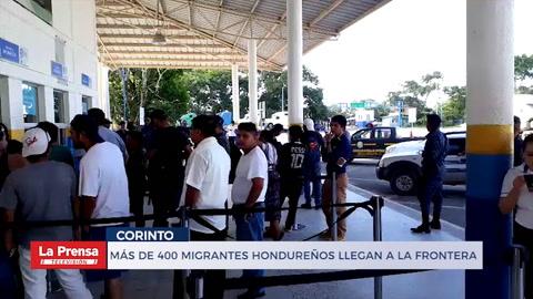 Mgrantes hondureños retornan al país por la frontera de Corinto