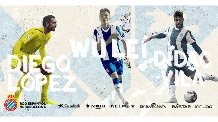Wu Lei, Diego López y Dídac Vilà renuevan con el Espanyol