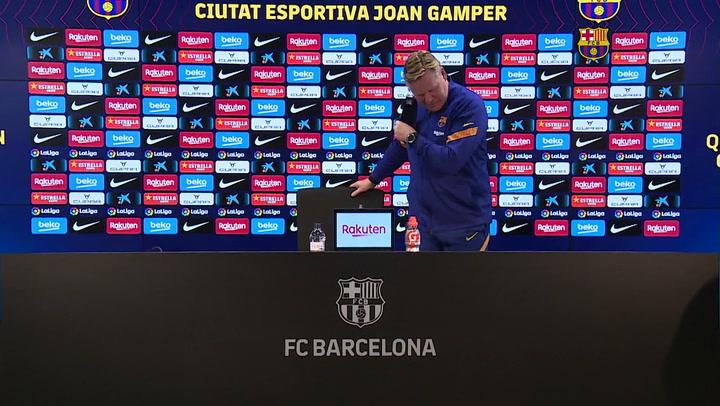 Rueda de prensa de Koeman previa al partido del Barça contra el Betis