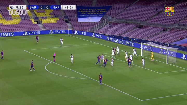 Cuplikan Laga: Barcelona 3-1 Napoli (Agustus 2020)