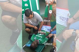 Bryan Johnson sufrió un desmayo al final del Marathón- Motagua
