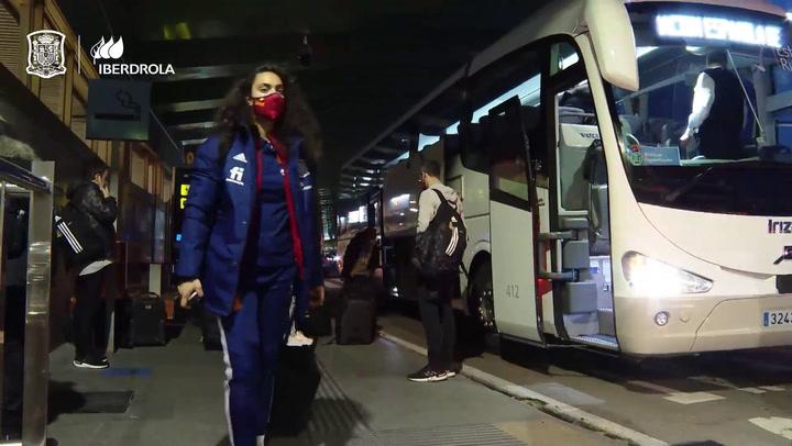 La selección femenina ya está en Azerbayán