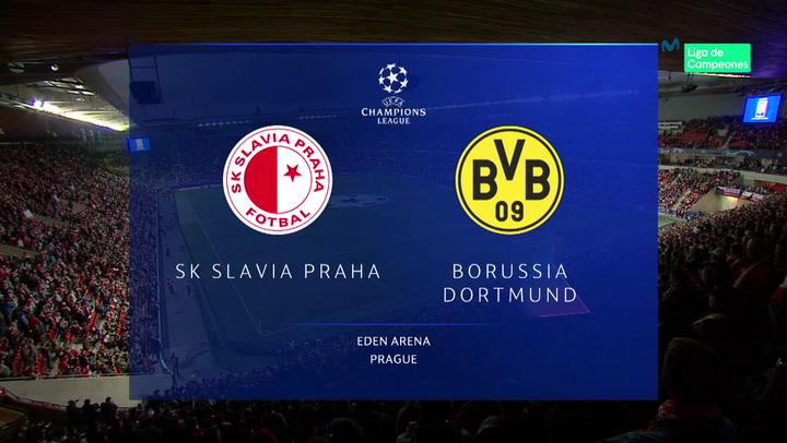Champions League: Resumen y Goles del Partido Slavia de Praga - Dortmund