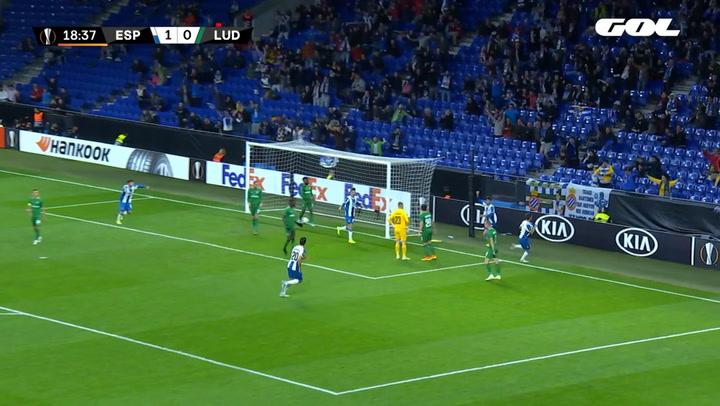 Europa League Espanyol-Ludogorets. Gol de Lluís López (2-0)