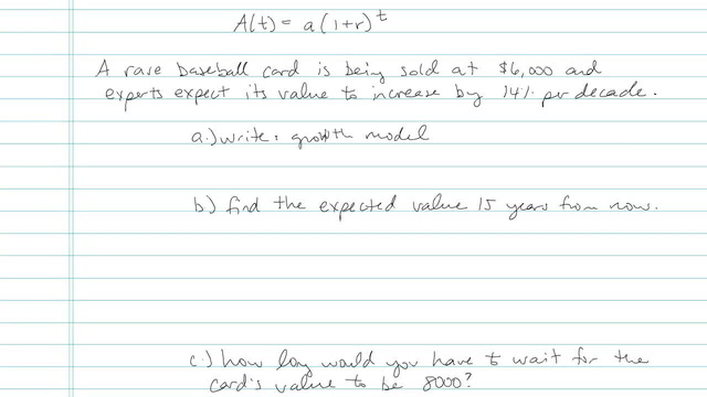 Exponential Growth and Decay - Problem 4