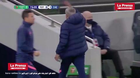 Mourinho fue buscar a futbolista del Tottenham que fue al baño en pleno partido