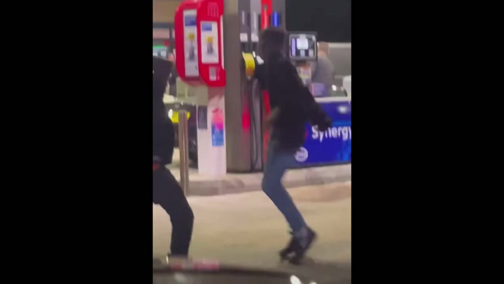 Frustrated customers fight on Esso forecourt amid UK fuel crisis
