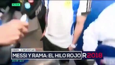 Messi usó cinta contra la mala suerte ante Nigeria