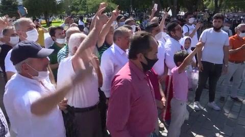 Erdogan anuncia la apertura de Santa Sofía al culto musulmán e inicio de oraciones