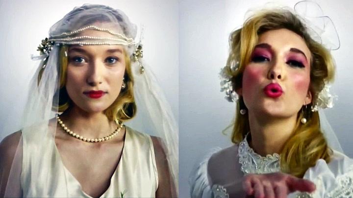 Se 100 år med brudekjoler på 3 minutter