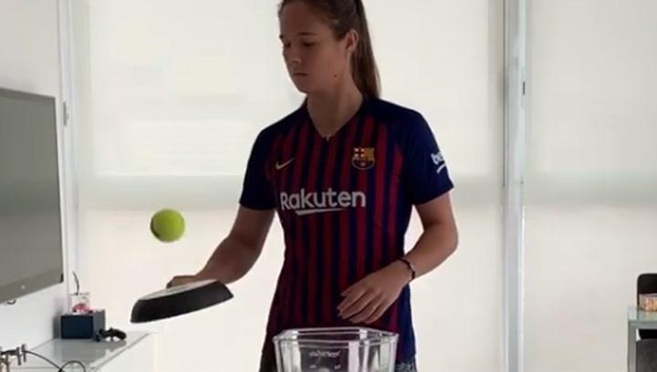 Daria Kasatkina, una tenista loca por el Barça a sartenazos