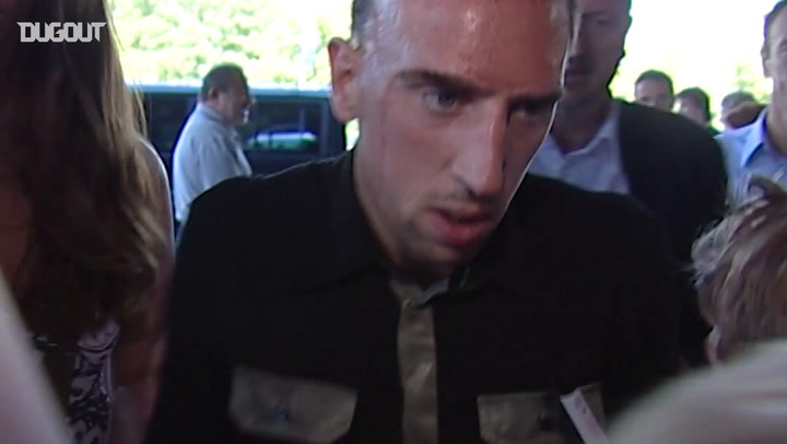 Throwback: Franck Ribéry's First Day At Bayern