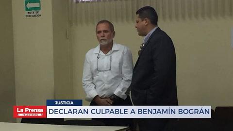 Declaran culpable a Benjamín Bográn