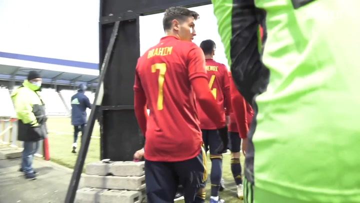 Brahim Díaz's brace with Spain U21