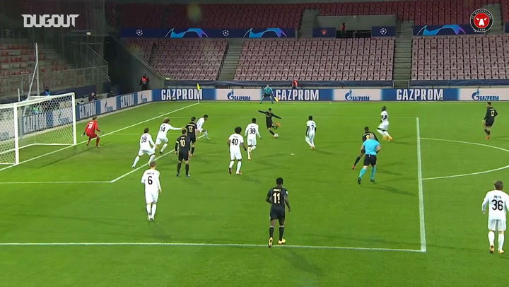 Dreyer scores FC Midtjylland's first Champions League group stage goal