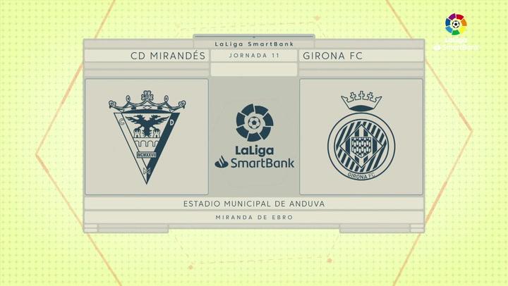 LaLiga SmartBank (J11): Resumen y goles del Mirandés 1-2 Girona