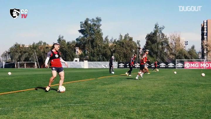 Colo-Colo se prepara para su partido ante el Athletico Paranaense