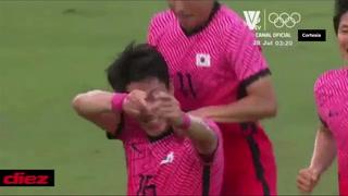 Honduras está cayendo goleada ante Corea del Sur y quedando fuera de Tokio 2021