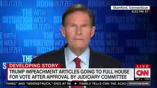 Sen. Blumenthal: Mitch McConnell Is 'Undermining the Credibility' of Impeachment