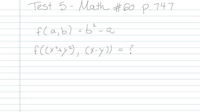 Test 5 - Math - Question 60