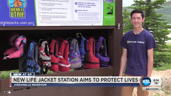 New life jacket loaner station installed at Jordanelle Reservoir