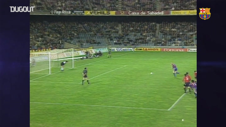 FC Barcelona smash eight past Osasuna in 1994