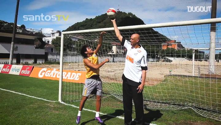 Neymar meets Kareem Abdul-Jabbar at the CT Rei Pelé