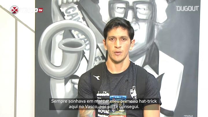 Germán Cano diz que sonhava com 1º hat-trick pelo Vasco