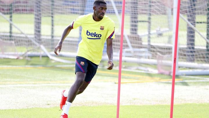 Dembélé se recupera en la Ciutat Esportiva del Barça