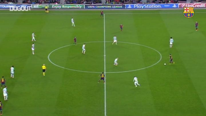 Barça's 40 passes before scoring vs Celtic